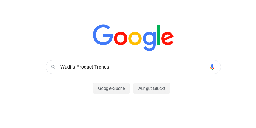 Wudi´s Product Trends Google